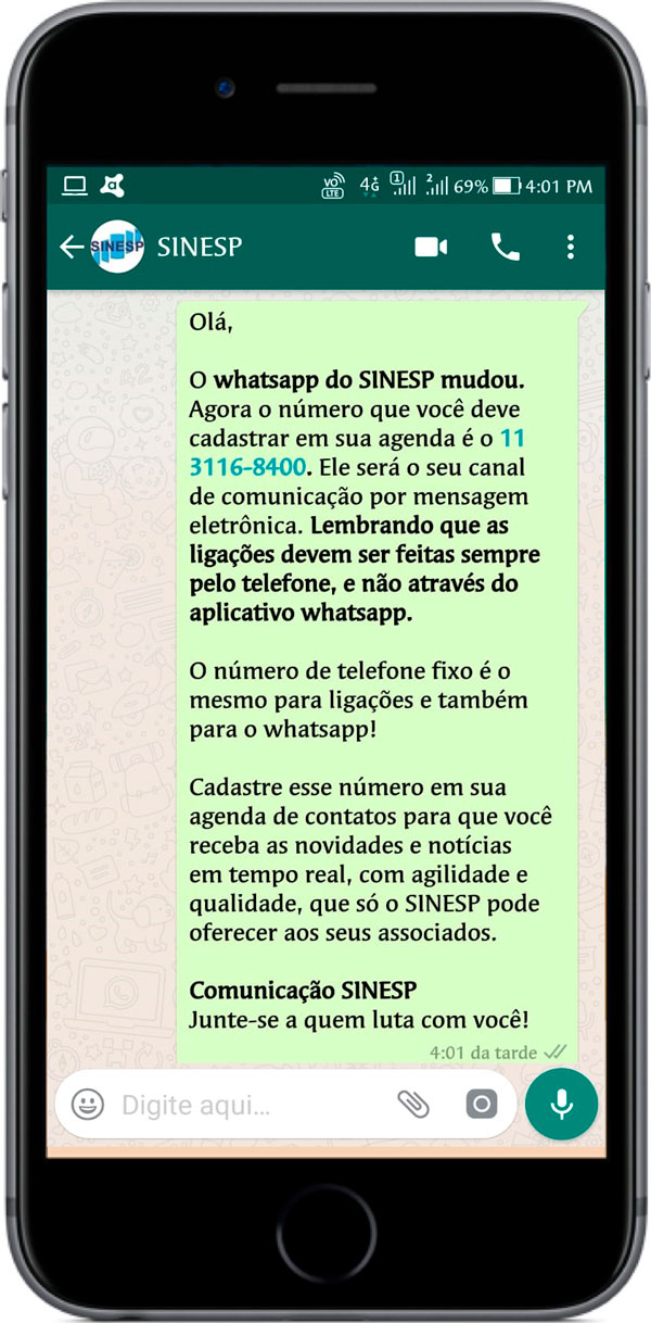 whatsapp sinesp